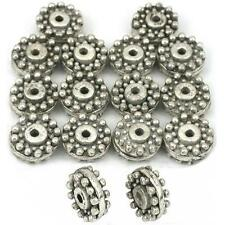 Bali Spacer Beads Antique Silver Plated 9mm Approx 15