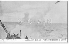 WWII Vendor Arcade / Mutoscope Card- Warship- Depth Charges- Ashcan in the Air