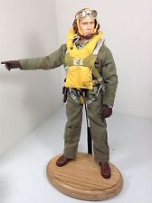 1/6 DRAGON US FIGHTER PILOT WW2 FULL PARACHUTE+OAK STAND P-51 P-40 BBI DID RC