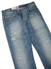 Hugo Boss 50196503 Moyen Blue Denim Orange 25 Shatter Jeans W31 L34