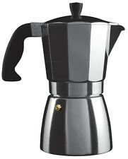 Grunwerg Induction 6 Cup Cafe Ole Italian Style Espresso Coffee Maker Aluminium