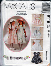 McCall's Sewing Pattern Girls Easy Dress Bridal Party Child Girl Size 6 7 8