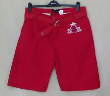 Brooklyn Xpress Mens Red Shorts with Belt Size 38 Adjustable Waist NWOT 200