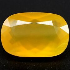 33.60 CT ~ Mexican Fire Opal ~ Yellow Cushion ~ Solid ~ Natural Gemstone