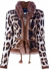 Roberto Cavalli cardigan with real fur size S