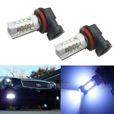 8000K Light-Blue High Power 16-CREE H11 H8 LED Replacement Bulbs For Fog Lights