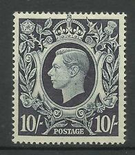 1939/48 Sg 478, 10/- Dark Blue Arms Issue, Lightly Mounted Mint.