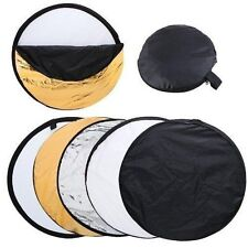 "24"" 60cm 5-in-1 Camera Light Multi Collapsible Disc Reflector + Bag For Flash"