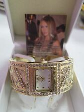 Melania Trump X Criss Cross Goldtone Finish Crystal Watch