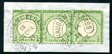 DR 1872 17b STREIFEN auf BRIEFSTÜCK gest MÜHLHAUSEN HE 750€+++(Z1050