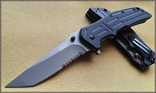 KERSHAW RJII SPRING ASSISTED KNIFE 4 INCH CLOSED TANTO SERRATED WITH CLIP NEW!