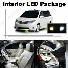 White LED Lights Interior Package Kit for Toyota Sienna 2004-2010 (13 Pcs )
