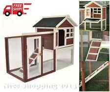 Rabbit Hutch Bunny House Cage Outdoor Safely Shelter Hen Pet Animal Chicken Coop