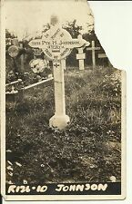 WW1 era grave postcard - Australian Infantry, A.I.F 4th Bn. Died of Wounds 1918