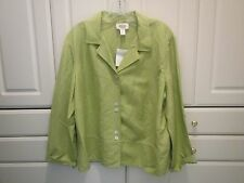 Talbots Woman NWT Womens Size 16W Lightweight Blazer Jacket Lime Green