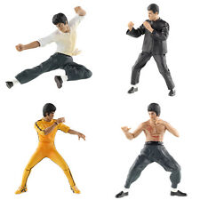 "4pcs PVC 4"" Bruce Lee Kung Fu Toy Game Action Figures Home Decor Gift"