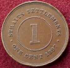 Straits Settlements 1 Cent 1897 (C0801)