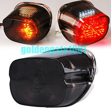 Smoked LED Taillight Turn Signal Light for Harley Softail Road King Fat Boy GG