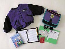 ✔️ American Girl Today Purple Varsity Jacket Backpack School Supplies Pleasant