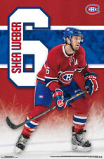 SHEA WEBER Montreal Canadiens NHL Hockey Superstar Action Official Wall POSTER