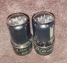 WORLDS BEST PAIR 6SN7 / VT-231 6SN7GT = 5692 TUBES KEN-RAD VINTAGE USA MADE RARE