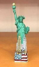 "4.5"" Statue of Liberty Figurine with Flag Base & NYC Skyline 4.5 inches"
