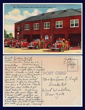 US MILITARY MARINE CORPS FIRE DEPARTMENT PARRIS ISLAND 1943 TO WEST WEBSTER NY