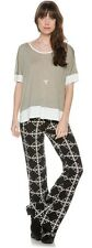 NEW VOLCOM TAKE IT PANT high rise flare pant size SMALL FIT 3 - 5 code WW140