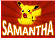 Pikachu Enfant A4 feuilleté Table Lieu Tapis Avec Correspondant libre Coaster