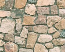 Papier Tapete DEKORA NATUR 6 AS 6924-12 Natursteinmauer Steine Braun Beige Grau