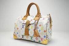 AUTH PRE-OWNED LOUIS VUITTON MONOGRAM MULTI COLOR SPEEDY 30 BOSTON M92643 132714