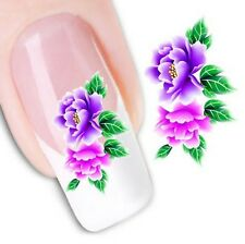 Nail Art Sticker Water Decals Transfer Stickers Flowers Floral (DX1043)
