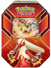 Tin Blaziken EX Hoenn Power Pokemon TCG with 4 Booster Packs Trading Card Game
