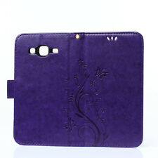 Flip Butterfly Card Holder PU Leather Stand Wallet Case For Samsung Iphone 7