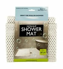 Non-Slip Shower Mat with Suction Cups Safety Bath Tub Anti Skid Protection NEW