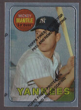 1996 Topps MICKEY MANTLE Finest w/ coating #19 SP of 19 1969 Topps Reprint