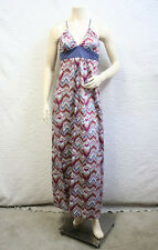 "$120 BCBG GENERATION HISBISCUS ""HIK6B882"" STRAP LONG MAXI COTTON DRESS NWT S"