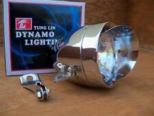 New Chrome Bicycle Bullet Head Light W Vizor & Mounting Braket