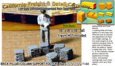 BRICK PILLAR/COLUMN SUPPORT FOOTERS (6pcs) Scale Model Masterpieces Yorke S/Sn3