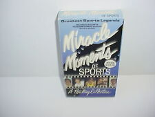 Miracle Moments of Sports Greatest Sports Legends VHS Video Tape