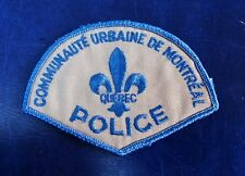 COMMUNAUTE URBAINE DE MONTREAL QUEBEC, CANADA POLICE SHOULDER PATCH