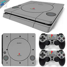 RETRO VINTAGE CONSOLE PS1 STYLE PS4 SLIM Playstation 4 Wrap Skin Sticker Cover