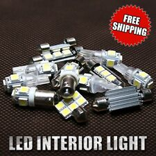 8X White Lights Bulbs LED SMD  Interior Package Kit For 2013 2014 Honda Accord