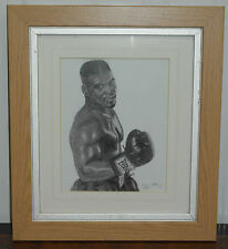 ORIGINAL SIGNED IN PENCIL PRINT OF IRON MIKE TYSON SKETCH NUMBER 54/100