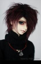New dark brown Short Fur Wig For 1/6 1/4 1/3 BJD SD dollfie