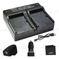 PTD-10 USB DualBattery ACDC Rapid Charger For Sony NP-FM50 FM55H FM500H NP-QM51