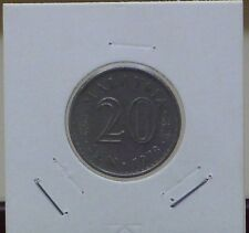 MALAYSIA 1978 PARLIMEN 20 CENTS COIN
