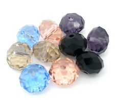 10 Mixte Perles Rondelle Cristal verre murano multicolore 10 mm