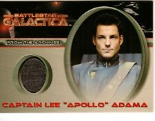 Battlestar Galactica Premiere Costume Card CC7 Captain Lee Apollo Adama