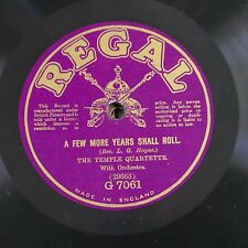 78rpm TEMPLE QUARTETTE a few more years shall roll / sun of my soul